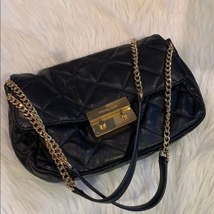 MICHAEL KORS Sloan Quilted Black Leather Handbag
